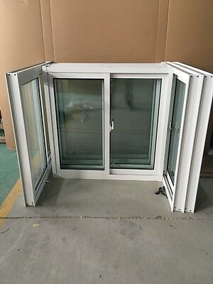 Aluminium Double Glazed  Sliding Window 600H*610w White Colour