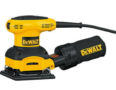 DeWALT 2.4 AMP D26441 1/4 Sheet Palm Grip Sander With Cloth Dust Bag