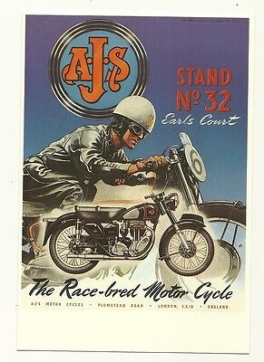 A.J.S. Motor Cycle - an advert reproduced on a modern postcard