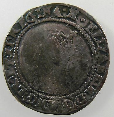 GREAT BRITAIN. 1570 AR Sixpence, Elizabeth I., 3rd issue, Spink#:2562, Fine