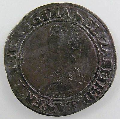 GREAT BRITAIN. 1560-1561, AR Shilling, Elizabeth I, 2nd issue.Spink-2555, Fine
