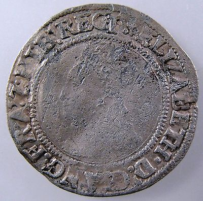 GREAT BRITAIN. 1558-1560 AR Groat, Elizabeth I, 1st issue, Spink# 2551, Fine