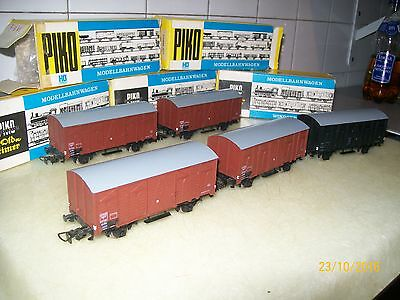 5 Wagon Couvert Marchandise Sncf+Boites Piko  Echelle Ho French Carriage