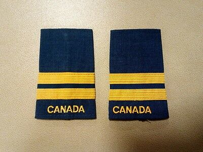 Canadian Forces Air Force Rank Captain slip ons Pair (2 Pieces) Blue
