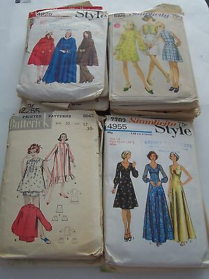 Lot Of 34 Vintage Womens Sewing Patterns-  Butterick, Simplicity, Style, Mccalls