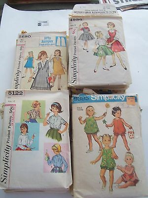 Lot Of 44 Vintage Childrens Sewing Patterns - Simplicity, Butterick, Style