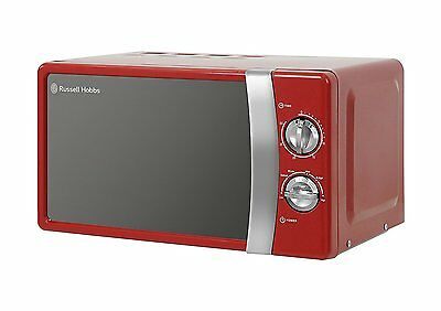 Russell Hobbs 17L 700W Manual Microwave Oven 5 Power Levels  RHMM701R - Red