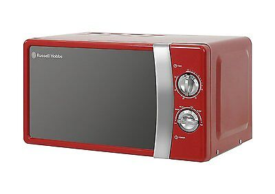 Russell Hobbs RHMM701R 17L 700W Manual Microwave, 5 Power Levels - Red NEW