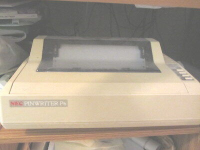 NEC Pinwriter P6 circa 1972 dotmatrix Printer w/ all components intact-See Cond.