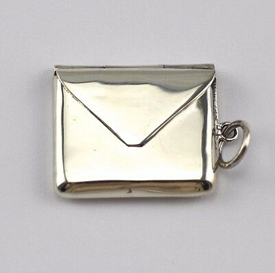 Novelty Antique Style Stamp Case Pendant 925 Solid Sterling Silver Hallmarked