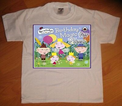 Ben and Holly Little Kingdom Custom Personal Birthday Party Favor Gift T-Shirt