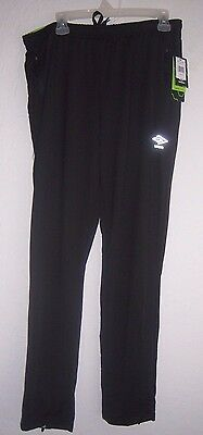New! Men's Umbro Athletic Warm Up/Running Pants Black Sz Large Relaxed Fit NWT