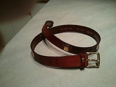 """Belt Mens 100% Leather by Frank&Daniel 40"""" Waist Made in Italy  Burnt Red Color"""