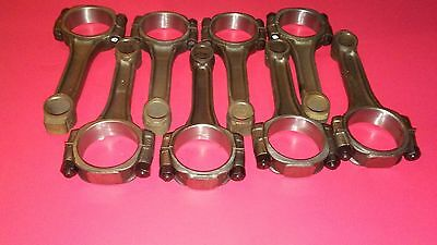 350 Chevy 5.7 Connecting Rods MODIFYED to fit 383/400SBC wide number pad rod