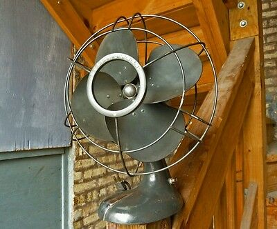 Vintage Westinghouse Electric Fan - 10-A-3 - 3 Speed - Oscillating - Steampunk