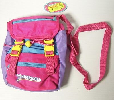 Vintage 1990s Peter Pan Tinkerbell Childs Backpack Carrybag 20x20cm with straps