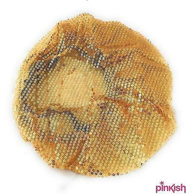 Gold Sequin Hairnet by Sleep in Rollers