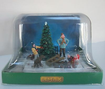 Lemax Table Accent Christmas Trimming Decorating the Tree Mother Children Dog