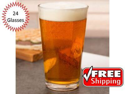 (24-Pack) 16 oz. Restaurant Bar Clear Pint Glass / Beer Glasses