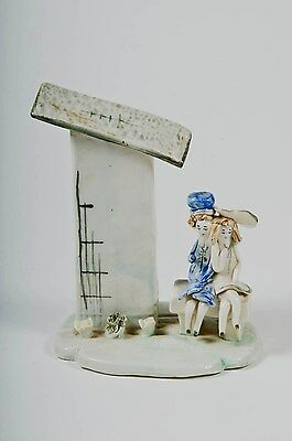 Vintage Lino Zampiva young girls on a bench figurine