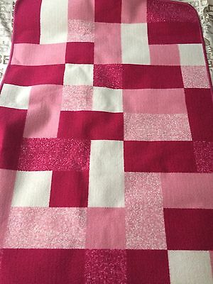 Girls Pink, White Checked Rug