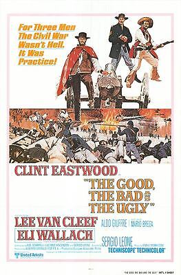 The Good the Bad and the Ugly Poster - Clint Eastwood - Sergio Leone