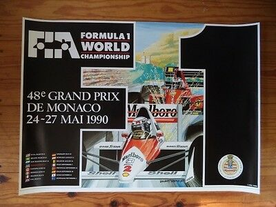 1990 Monaco F1 GP official poster
