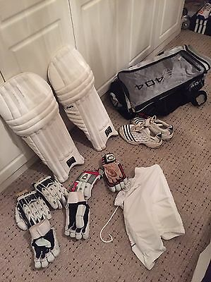 Cricket Set - GM bag, Adidas Spikes, 3 Pairs of LH Gloves, LH Pads