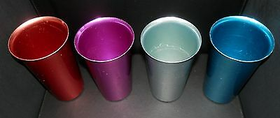 VINTAGE 1960's WEAR-EVER ALUMINUM DRINKING GLASSES