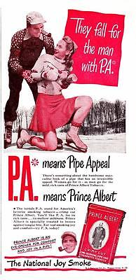 Vintage ad 1947 Prince Albert Pipe Tobacco Man with Pipe Appeal Man Cave art
