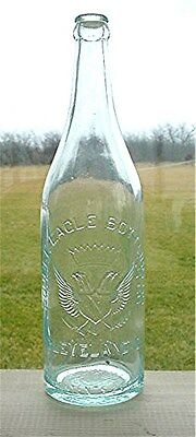Double Eagle Bottling Co. Cleveland, O. (Ohio) Aqua Crown Top Beer Bottle