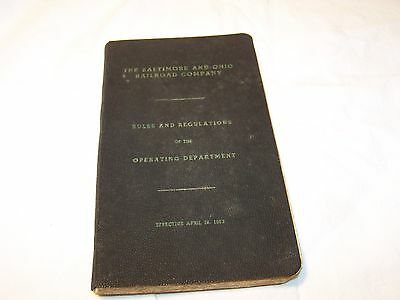 THE BALTIMORE AND OHIO RAILROAD COMPANY 1953 RULE BOOK B & O Train Collectible