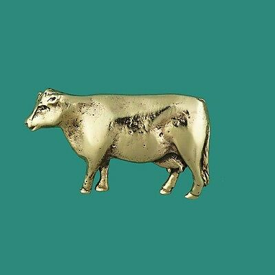 Gold Cattle Farmer Pin for Hat or Jacket Dairy Cow Brooch or Tie Pin DAISY