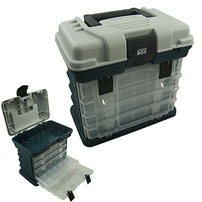 Storage Carry Case With 4 Adjustable Compartment Storage Boxes Fishing Tackle Bo