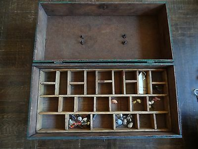 vintage fishing tackle box lures collection