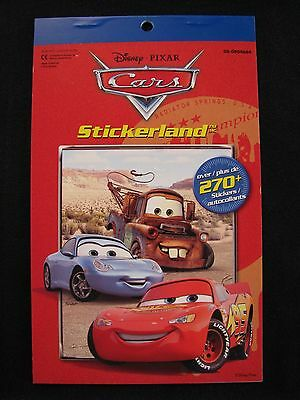 Disney Pixar Cars Stickerland  over 270 stickers 4 pages
