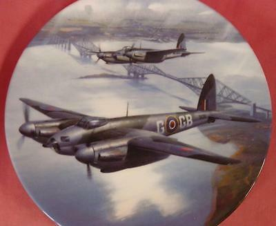 """Royal Doulton Mosquitos Over The Forth Bridge Raf Plane 10"""" Plate Box + Cert"""