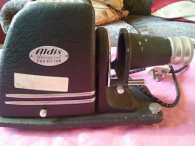 Aldis universal Slide Projector with aldis 100mm lens vintage , rare , collectab