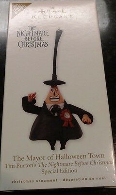 2010 Hallmark The Mayor of Halloween Town Nightmare Before Christmas Ornament