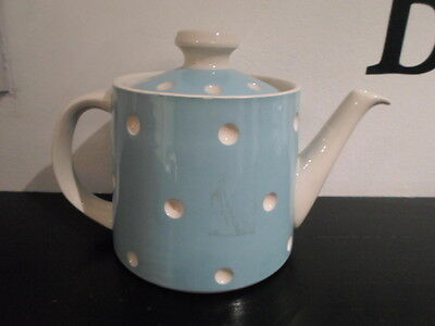 T G Green Cornish Baby Blue Domino Teapot Cornishware Made In England