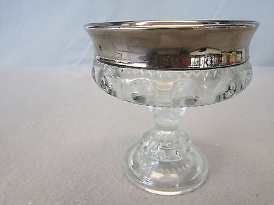 """Indiana Colony Glass King's Silver CROWN  Compote Candy Dish 5 1/4"""""""