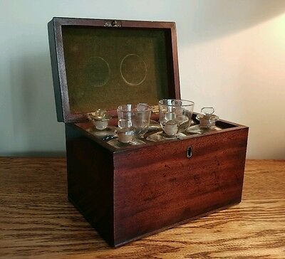 FANTASTIC GEORGIAN MAHOGANY APOTHECARY CHEST WITH ORIGINAL CONTENTS c.1745