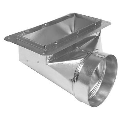 "Air Duct Angle Boot Flange 4"" x 10"" x 6"" Round Galvanized Steel Metal Register"