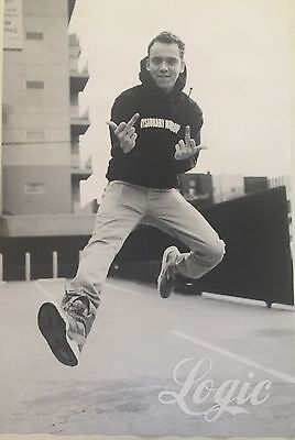 Logic The Rapper Middle Fingers In The Air Poster 24 X 36