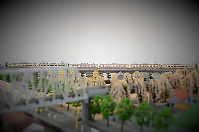 N scale Tomix Electric Intercity Yellow train, 6 coaches (294)