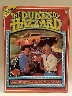 Dukes of Hazzard General Lee Coloring and Activity Book. Vintage Original. 1981