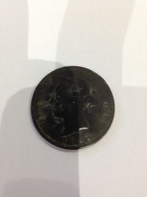 1887 Cyprus One Piastre Coin
