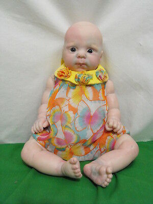 """Reborn Doll 21"""" Tall 4 1/2 Pounds Unknown Artist For Parts Or Repair Refinishing"""