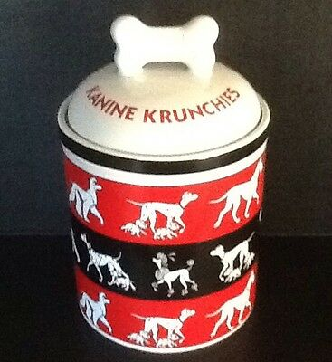 Kanine Krunchies Disney 101 Dalmatians Dog Treat Cookie Jar Retired Collectible