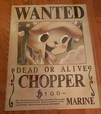 One Piece Chopper Wanted Bounty Wallpaper Poster Official Mugiwara